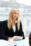 Beautiful businesswoman in a meeting Stock Photography