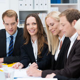 Beautiful businesswoman in a meeting Royalty Free Stock Photos