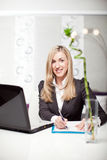 Beautiful businesswoman in a modern office Royalty Free Stock Images
