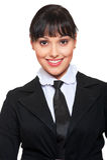 Beautiful businesswoman in necktie Royalty Free Stock Photos