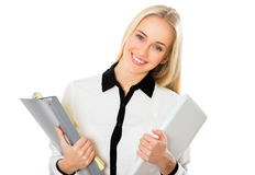 Beautiful businesswoman in an office Royalty Free Stock Image