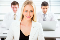 Beautiful businesswoman in an office Royalty Free Stock Photo