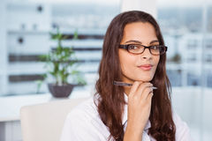 Beautiful businesswoman in office Royalty Free Stock Image