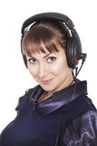 Beautiful businesswoman operator with headset Royalty Free Stock Photo