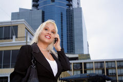 Beautiful Businesswoman Outdoors (1) Royalty Free Stock Image