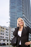 Beautiful Businesswoman Outdoors (2) Royalty Free Stock Image