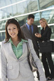 Beautiful Businesswoman Outside Office Stock Photos