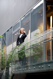 Beautiful businesswoman on the phone. Outdoor the office Stock Photography