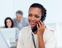 Beautiful businesswoman on phone Stock Photo