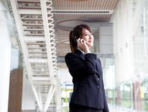 Beautiful businesswoman on the phone Stock Photography