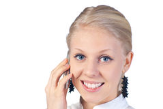 Beautiful businesswoman on the phone. Royalty Free Stock Photos