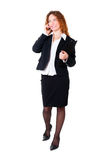 Beautiful businesswoman on the phone. Stock Photos