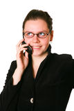 Beautiful businesswoman on the phone Stock Images
