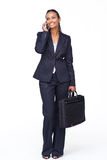 Beautiful businesswoman on phone after work Stock Photos