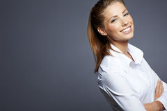 Beautiful businesswoman portrait, Royalty Free Stock Images