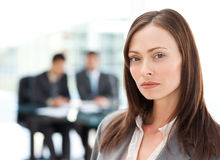 Beautiful businesswoman during a presentation Stock Image