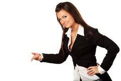 Beautiful businesswoman presenting Royalty Free Stock Photo