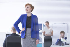 Beautiful businesswoman ready to action Stock Image