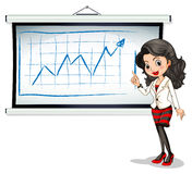 A beautiful businesswoman reporting Stock Photography
