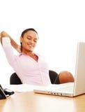 Beautiful businesswoman resting Stock Photo