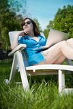 Beautiful businesswoman resting Royalty Free Stock Photos