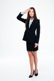 Beautiful businesswoman saluting Stock Photography
