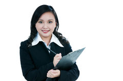 Beautiful businesswoman smiling Royalty Free Stock Photo