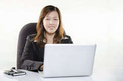 Beautiful businesswoman smiling Royalty Free Stock Images