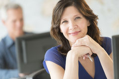 Beautiful Businesswoman Smiling In Office Stock Images