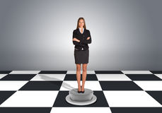 Beautiful businesswoman standing with crossed arms Royalty Free Stock Photo