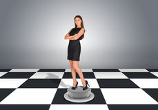 Beautiful businesswoman standing with crossed arms Royalty Free Stock Images