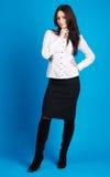 Beautiful businesswoman studio photo Royalty Free Stock Photos