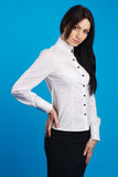 Beautiful businesswoman studio photo Stock Images