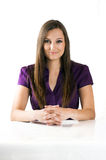 Beautiful businesswoman on a table Royalty Free Stock Photos