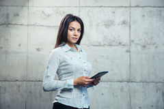 Beautiful businesswoman with tablet computer Royalty Free Stock Photography