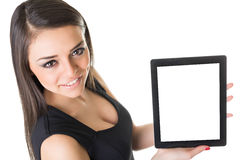 Beautiful businesswoman with tablet computer Royalty Free Stock Image