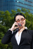 Beautiful businesswoman talking Royalty Free Stock Image