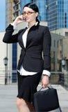 Beautiful businesswoman talking Stock Photo