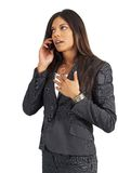 Beautiful businesswoman talking Royalty Free Stock Photography