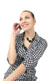 Beautiful businesswoman talking mobile phone Stock Photography