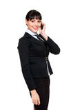 Beautiful businesswoman talking on the phone Royalty Free Stock Images