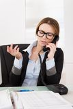 Businesswoman Talking On Telephone Stock Image