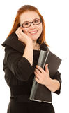 Beautiful businesswoman talking to phone Royalty Free Stock Photography