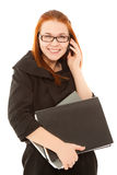 Beautiful businesswoman talking to phone Royalty Free Stock Photo