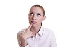 Beautiful businesswoman thinking Stock Image