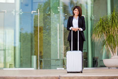 Beautiful businesswoman traveling Royalty Free Stock Photo