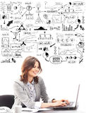 Beautiful businesswoman typing on keyboard Royalty Free Stock Photography