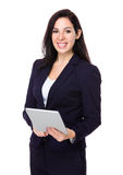 Beautiful businesswoman use of digital tablet Stock Photo