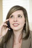 Beautiful Businesswoman Using Cell Phone Stock Photography