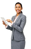 Beautiful Businesswoman Using Digital Tablet Stock Photo